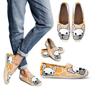 White Frenchie Orange - French Bulldog Casual - frenchie Shop