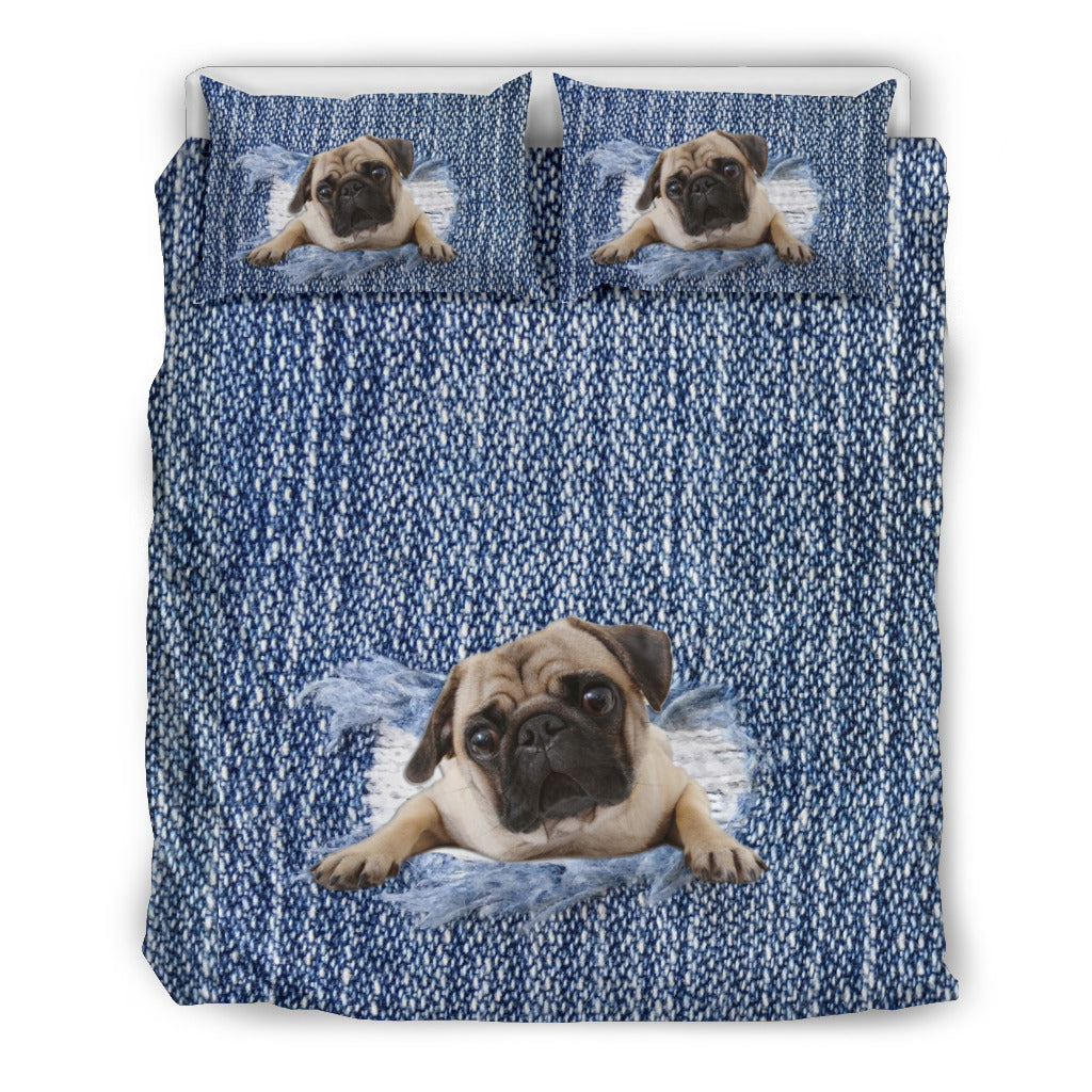 Pug Break The Wall Bedding Set - frenchie Shop
