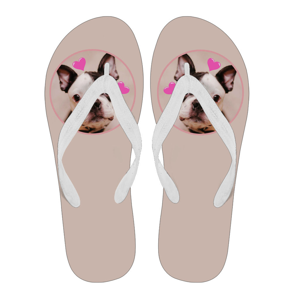 Frenchie Cute Heart -  Flip Flop - frenchie Shop