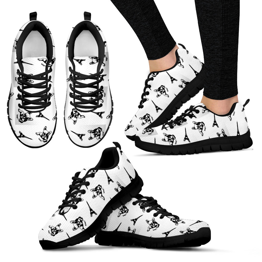 Frenchie Woof - French Bulldog Women Sneaker - frenchie Shop