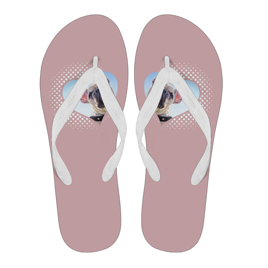 Frenchie Heart Style -  Flip Flop - frenchie Shop