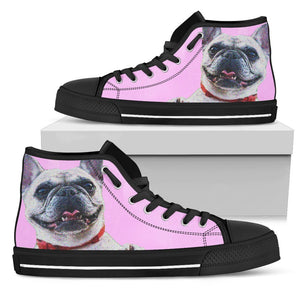 French Bulldog Happy Cute Face Pink Style - frenchie Shop