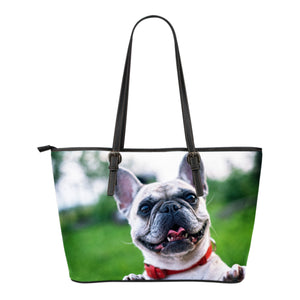 Custom Leather Bag - Frenchie Bulldog Shop