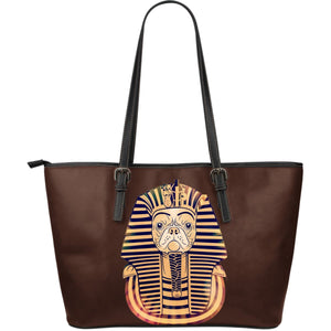 Pharaoh The Frenchie -  Leather Tote Bag