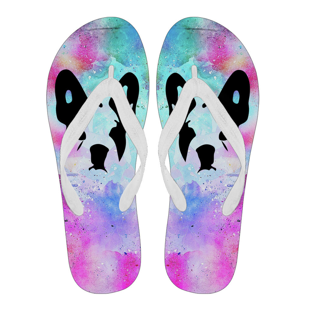Frenchie Silhouette Colorful -  Flip Flop - frenchie Shop