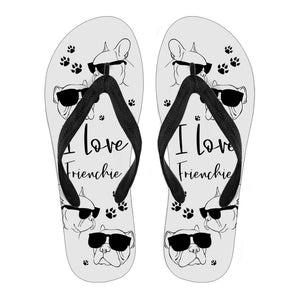 I Love Frenchie -  Flip Flops - frenchie Shop