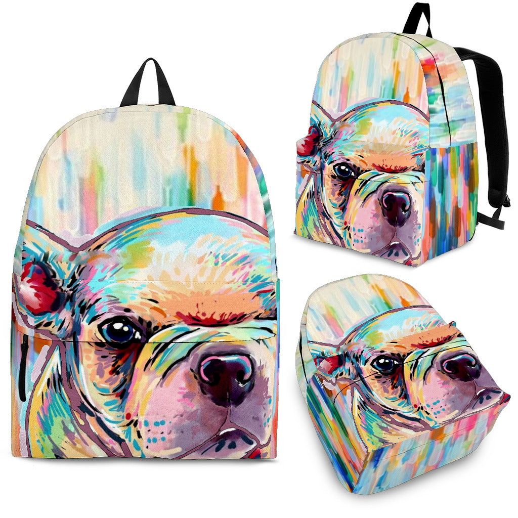 Abstract Color Frenchie - French Bulldog Backpack - Frenchie Bulldog Shop