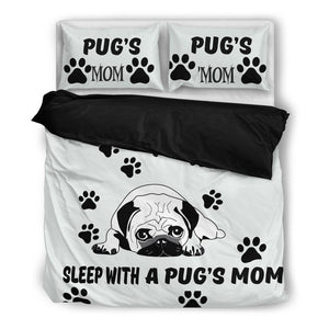 Sleep with a pug's mom - Bedding Set