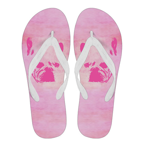 Frenchie Pink Silhouette -  Flip Flop - frenchie Shop