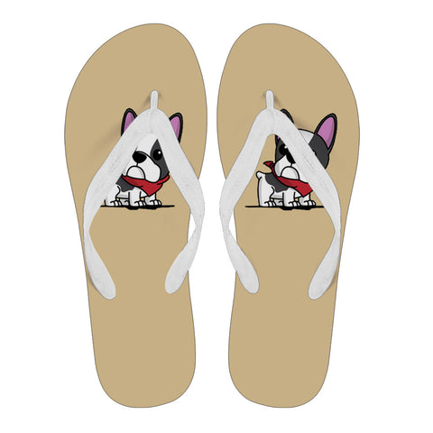 Frenchie Cute Puppy - Flip Flop - frenchie Shop