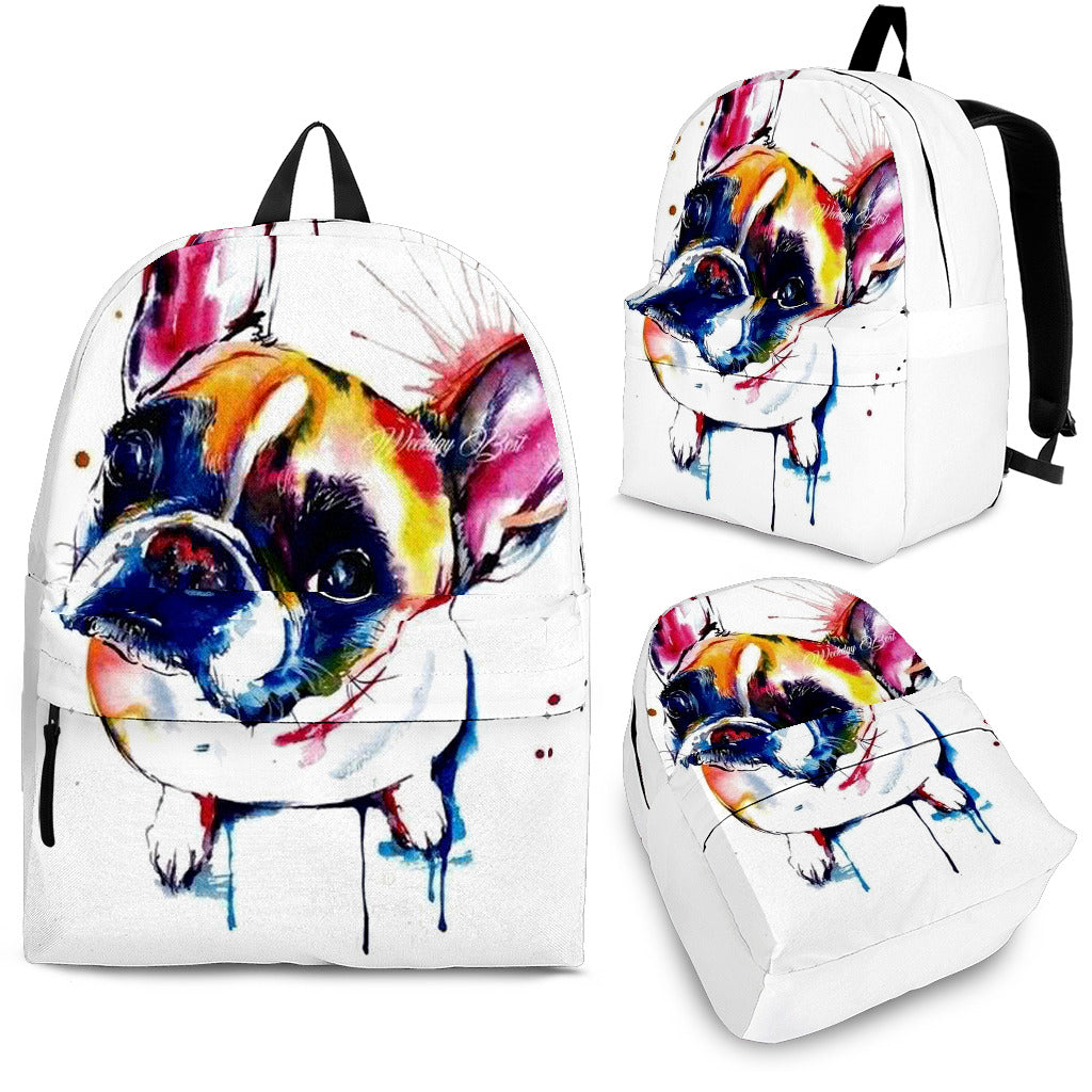 Painting Frenchie - French Bulldog Backpack - Frenchie Bulldog Shop