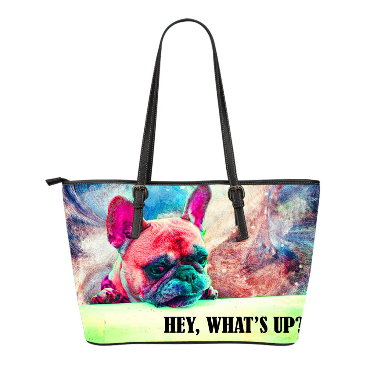 French Bulldog Colorful Painting Hey, What's Up - frenchie Shop