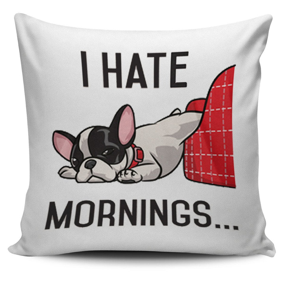 I hate mornings Pillow