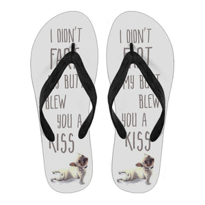 Frenchie Fart Kiss -  Flip Flops - frenchie Shop