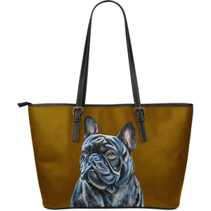 French Bulldog TM - Leather Tote Bag