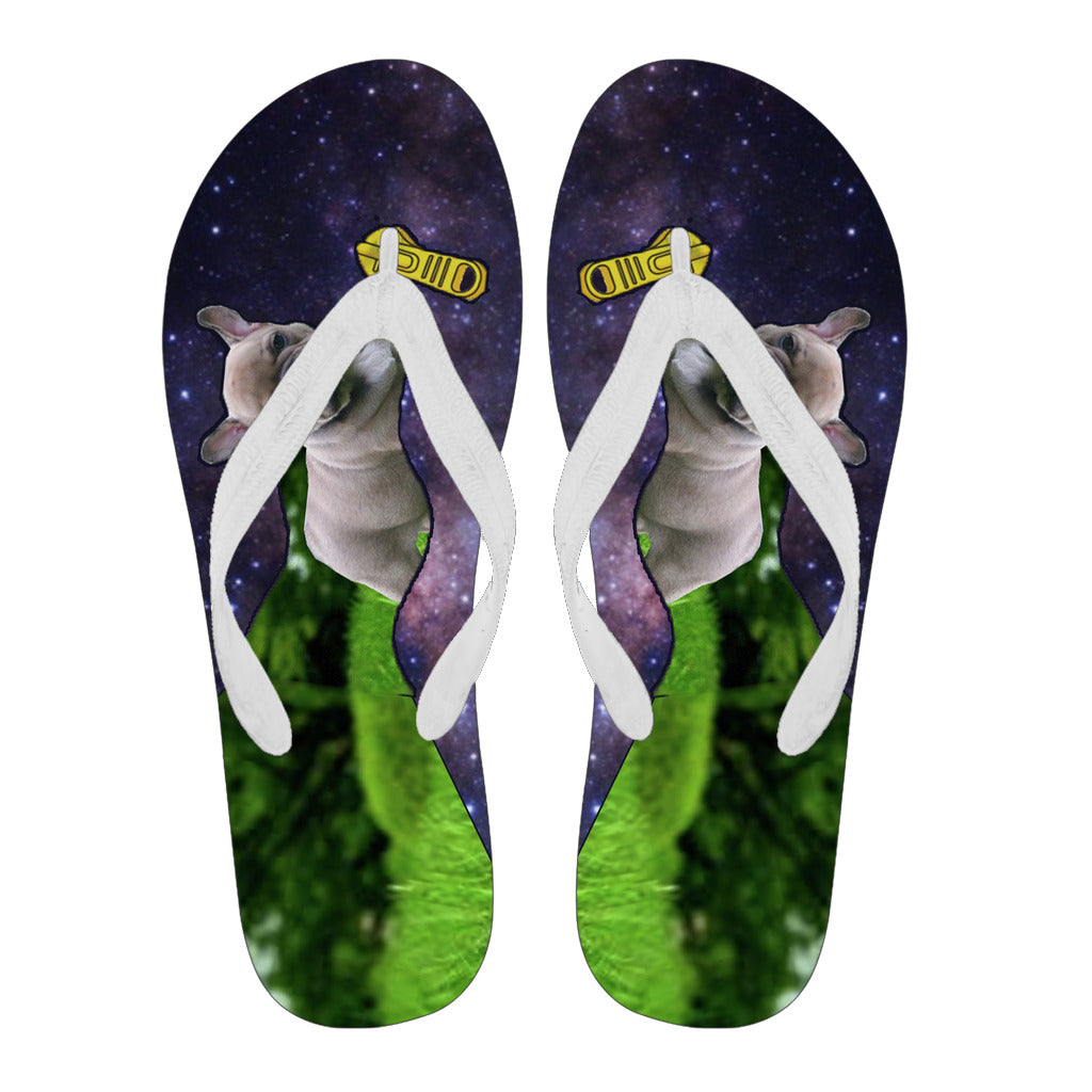 Frenchie Open Zipper Galaxy Dimension -  Flip Flops - frenchie Shop