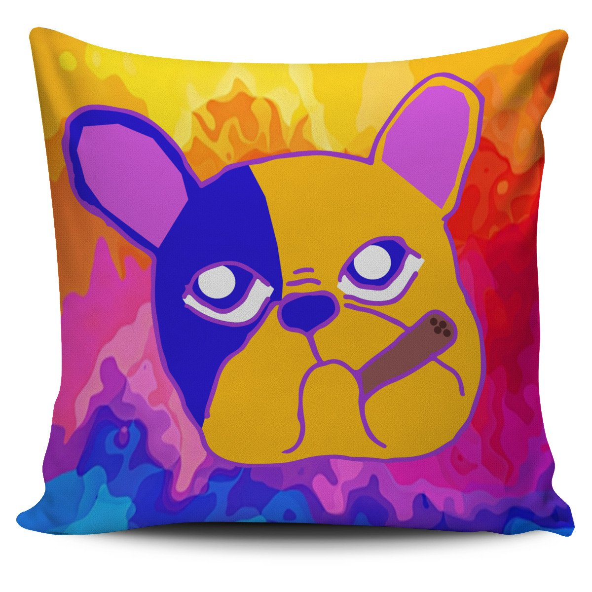 French Bulldog Multi Color Abstract Smoking - frenchie Shop