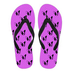 Frenchie Silhouette -  Flip Flops - frenchie Shop