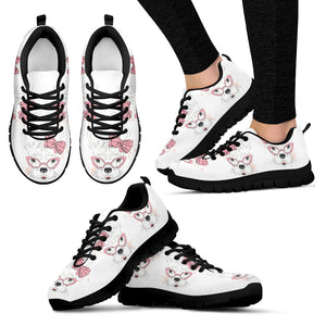 Frenchie Nerd - French Bulldog Women Sneakers - frenchie Shop