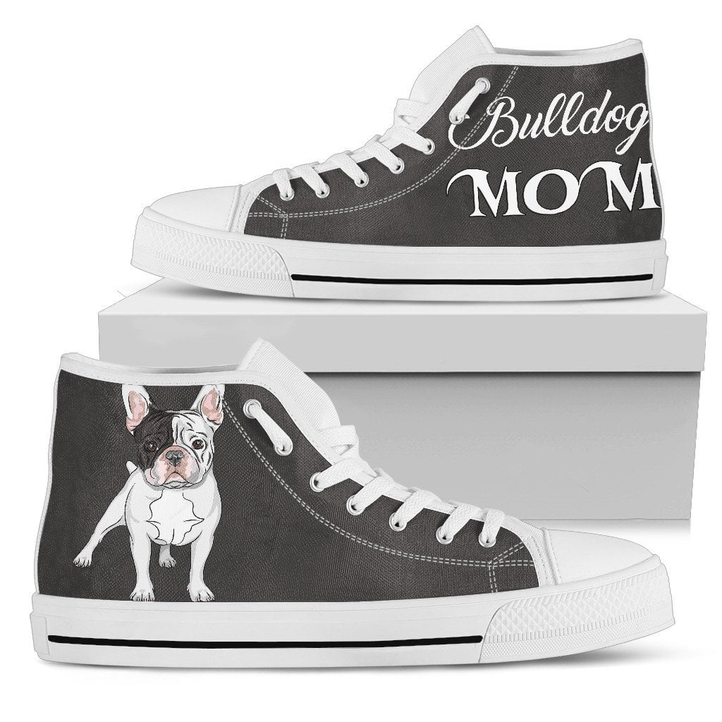 High Top Canvas Shoe - Bulldog MOM