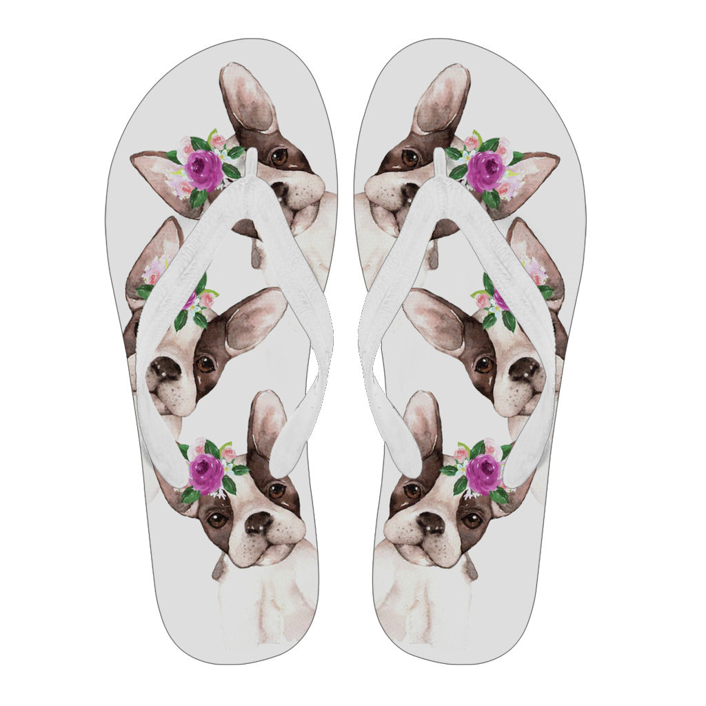 Cute Puppy - Flip Flops - frenchie Shop