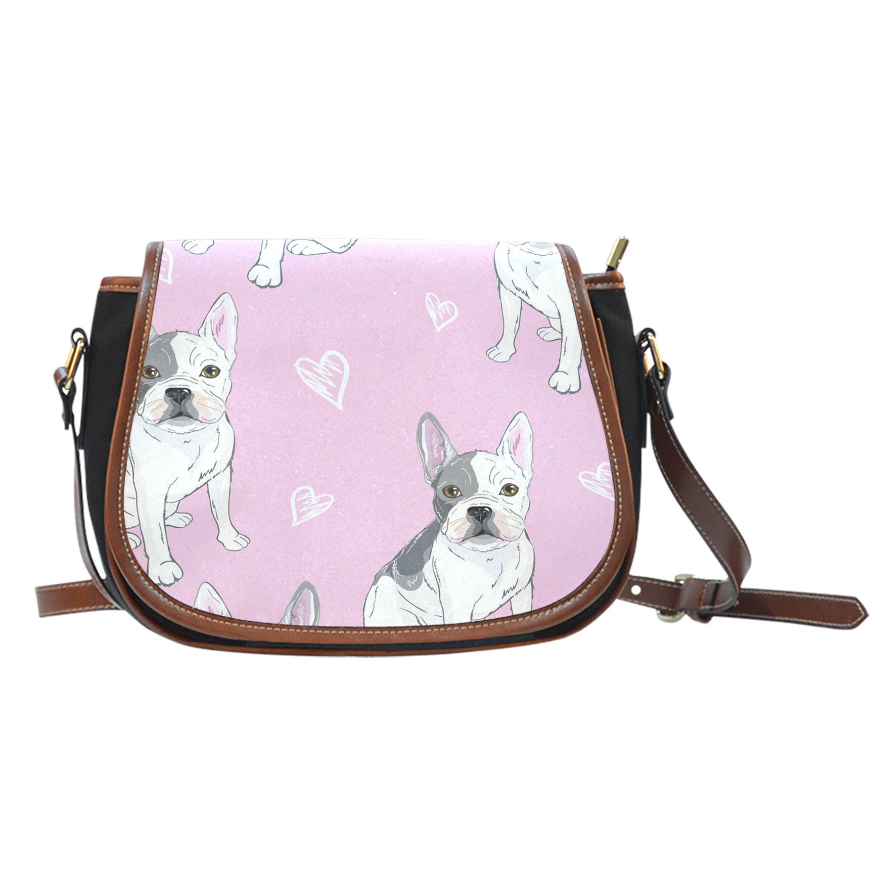 Cute White Frenchie - French Bulldog Saddle Bag - frenchie Shop