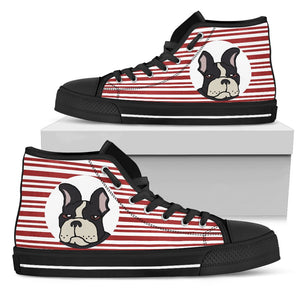 French Bulldog Moody Lazy Women Shoe High top
