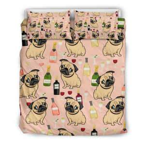 Pug Drink Bedding