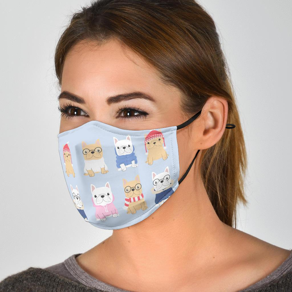 Frenchie Time - Fashion Face Mask - Frenchie Bulldog Shop