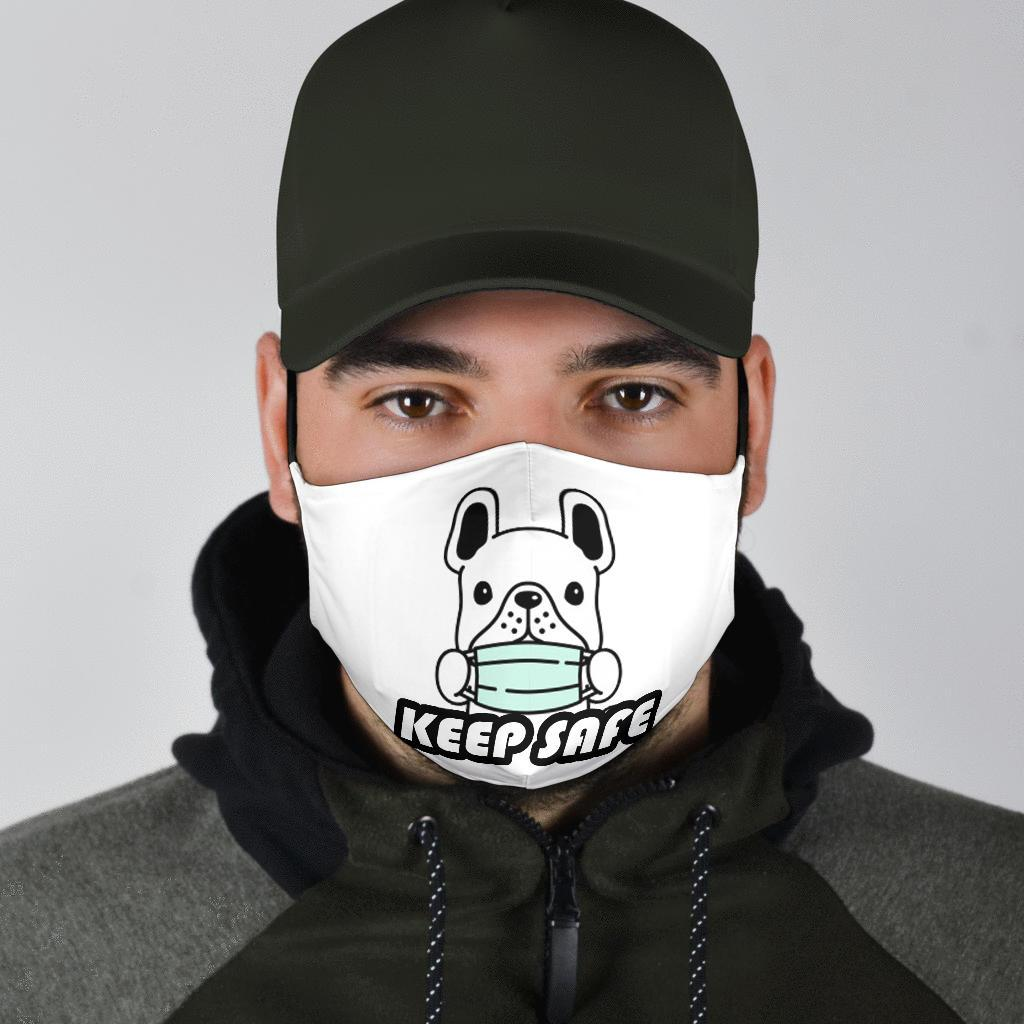 Keep Safe - Fashion Face Mask - Frenchie Bulldog Shop