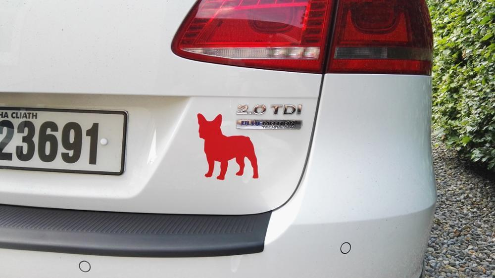 Cute French Bulldog sticker For Cars
