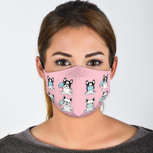 My Frenchies - Fashion Face Mask - Frenchie Bulldog Shop