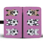 Soccer Football Frenchie - French Bulldog Wallet Case - frenchie Shop