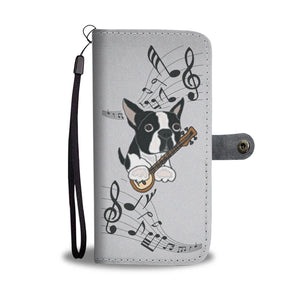 Musician Frenchie - French Bulldog Wallet Case - Frenchie Bulldog Shop
