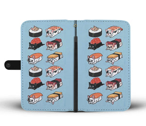 Funny Sushi Frenchie - French Bulldog Wallet Case - Frenchie Bulldog Shop