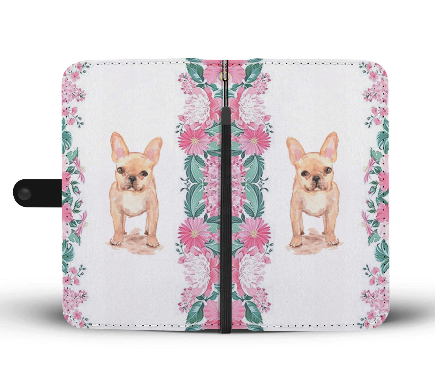 Cute Flower Frenchie - French Bulldog Wallet Case - frenchie Shop
