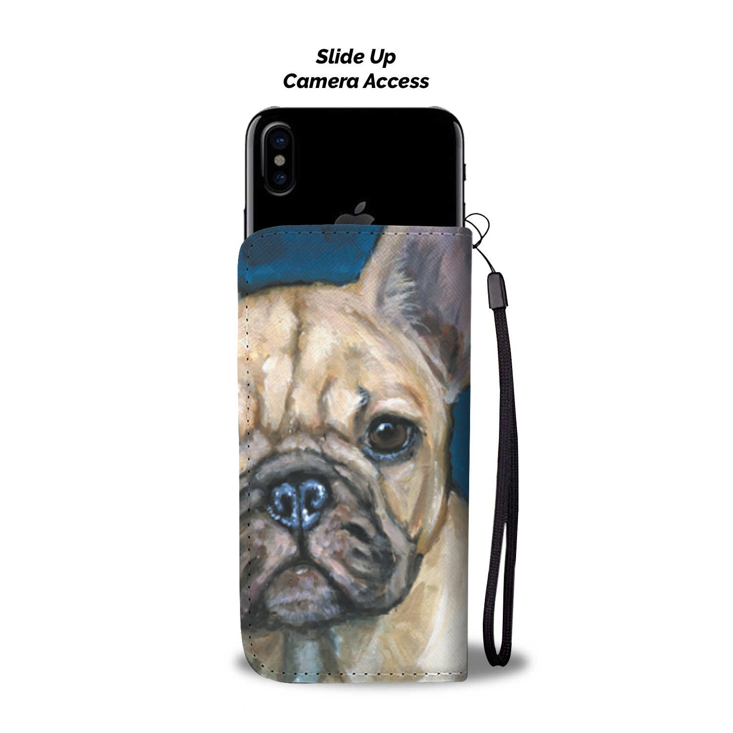Cute Brown Frenchie - French Bulldog Wallet Case - Frenchie Bulldog Shop