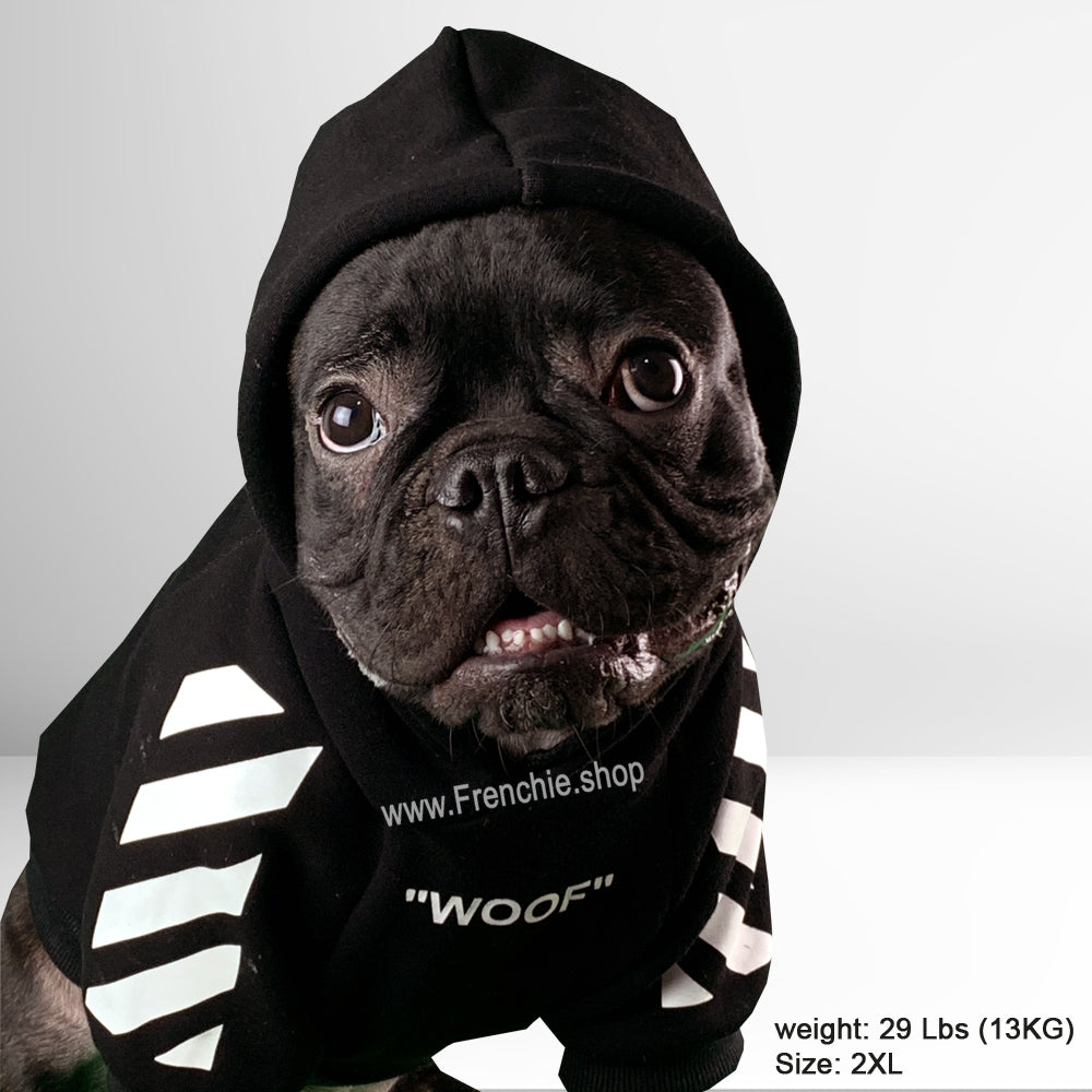 WOOF Hoodie for Frenchies (WS88) - Frenchie Bulldog Shop