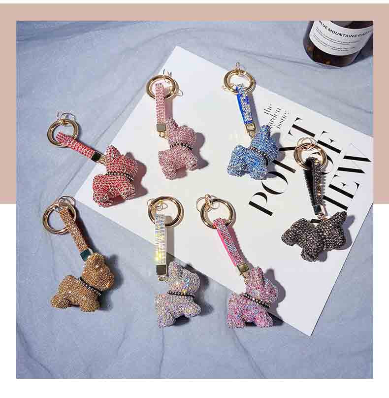 Luxury French Bulldog Keychain