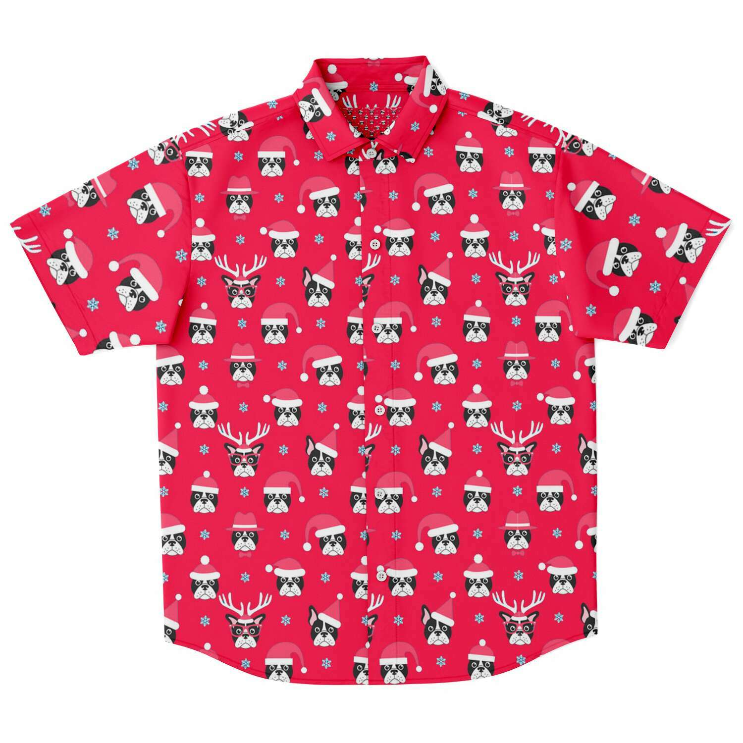 Lilo - Sleeve Button Down Shirt - Frenchie Bulldog Shop