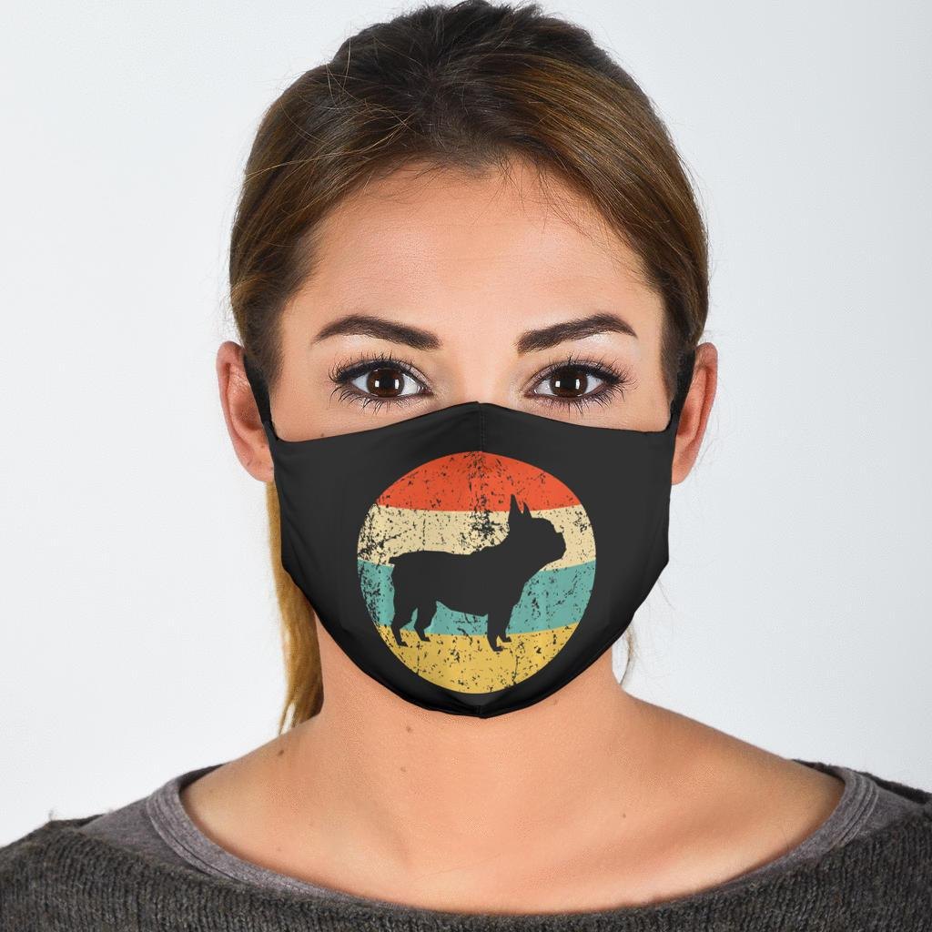 Colourful Frenchie - Fashion Face Mask - Frenchie Bulldog Shop