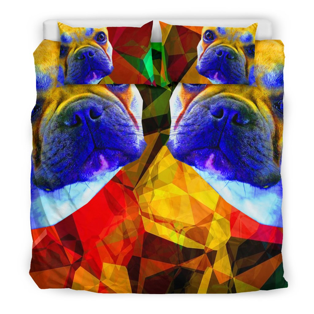 French Bulldog Abstract Brown Twin Colorful - frenchie Shop