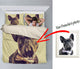 Custom Bed Sheet for french bulldog lovers