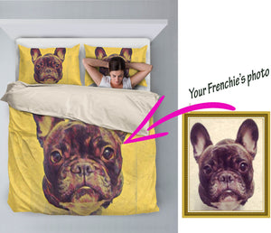 Custom Bed Sheet for french bulldog lovers - frenchie Shop