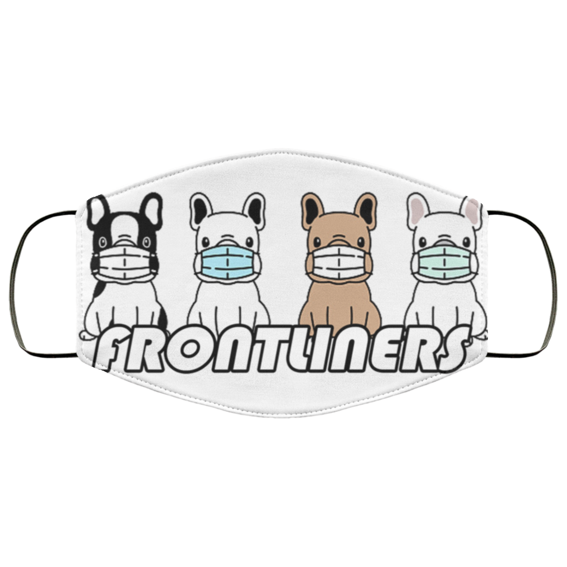 Frontliners - Fashion Face Mask - Frenchie Bulldog Shop