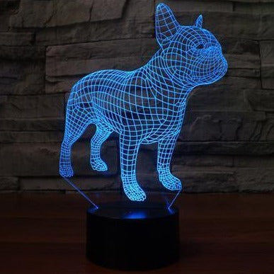 French Bulldog 3D LED Lamp - Frenchie Bulldog Shop