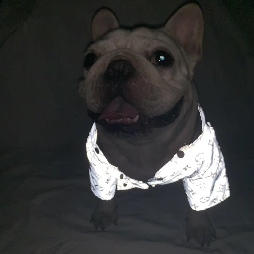 Reflective Lightweight winter jacket for French Bulldog (WS60) - Frenchie Bulldog Shop