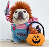 Chucky Costume For French Bulldog (WS44) - Frenchie Bulldog Shop