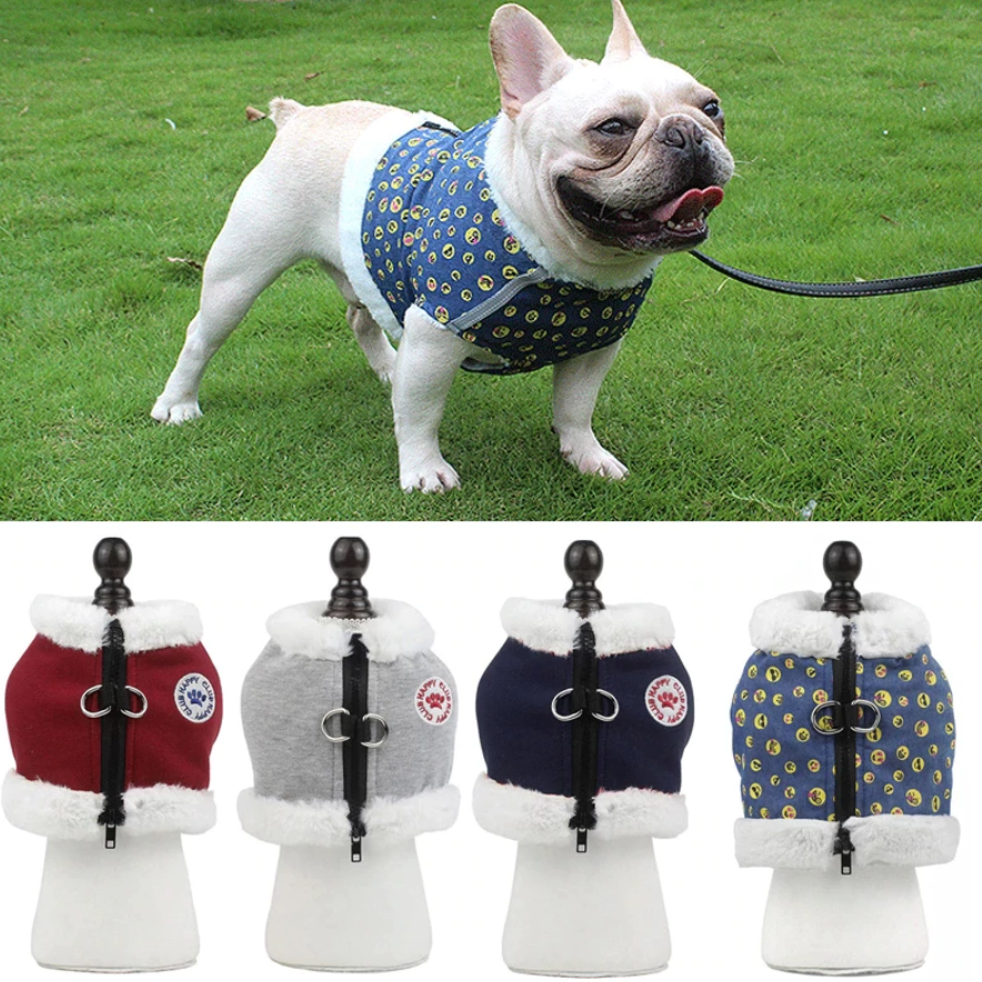 Reflective Harness for Winter (WS304) - Frenchie Bulldog Shop