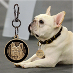 Personalized Engraved ID Tag for French Bulldog - Frenchie Bulldog Shop